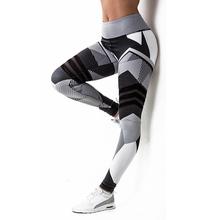 Women Leggings Push Up Hip Fitness Print Sporting Workout Athletic Leggins Elastic High Waist Slim Jogging