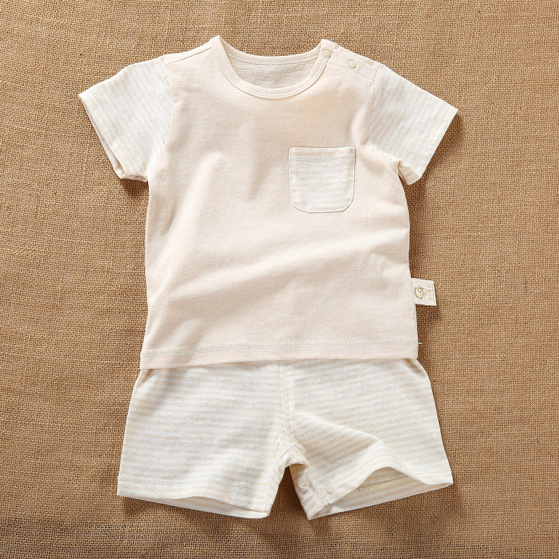 Newborn Baby Boy Short Sleeve Organic Cotton Summer Sets Clothes Infant Unisex Boys Baby Casual Top+Tshirt Sets Outfit Clothing baby boy clothes kids bodysuit infant coverall newborn romper short sleeve polo shirt cotton children costume outfit suit