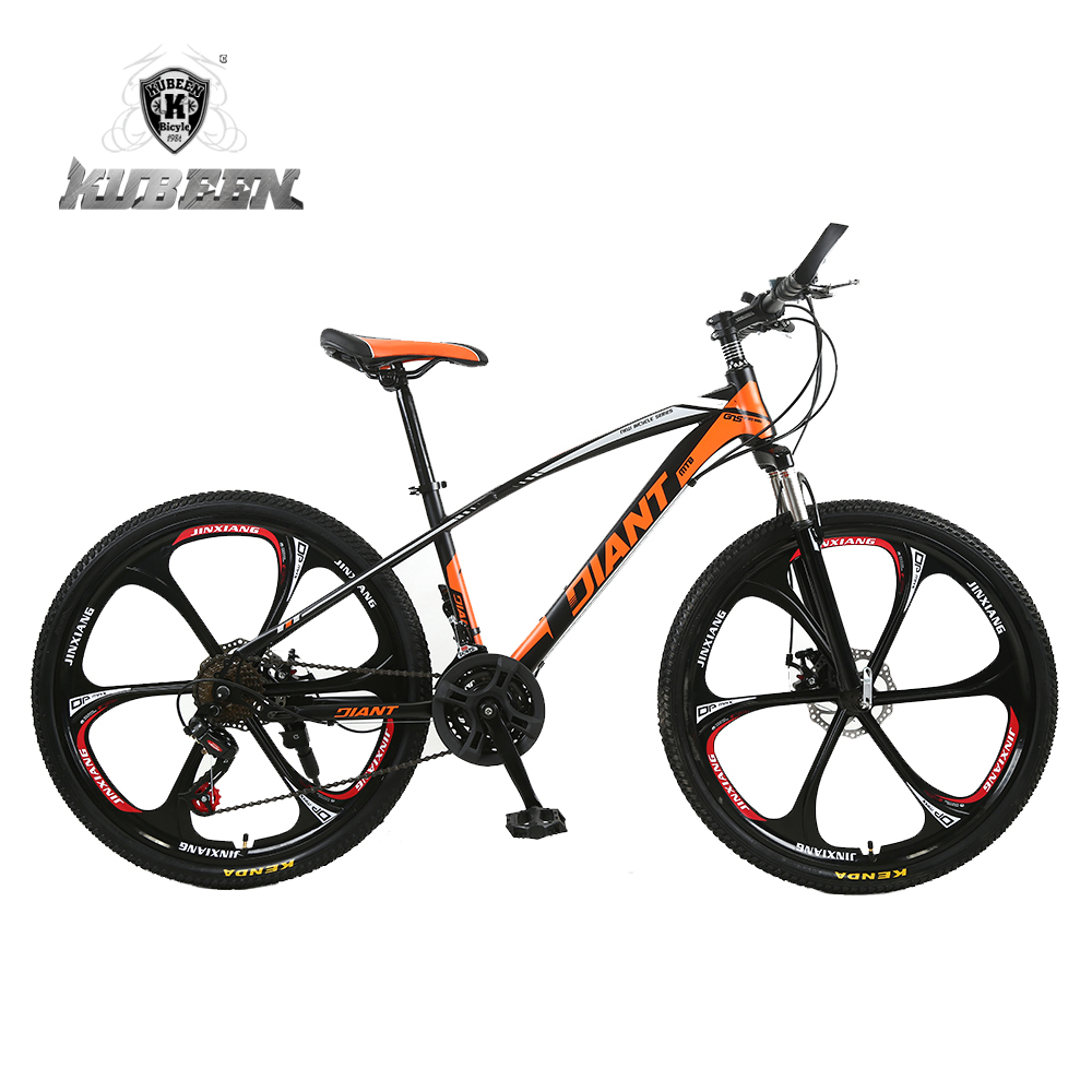 KUBEEN High-Carbon Steel 26-Inch Mountain Bike Dual Disc Brakes One Wheel Speed Damping 21 Speed Men Women Student Bicycle jin ruiguang cut pieces of high speed resin cutting wheel 105 1 16 dual wholesale