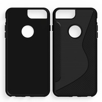10pcs Lot Black Shockproof Anti Skid S Line TPU Gel Skin Case Cover For IPhone 6