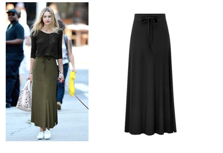 Spring Summer  Women Irregular High Elastic Waist Elegant Classic Pencil Skirt Sexy Slim Long Loose Lace -up Bowknot Skirts 6XL