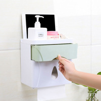 Multifunction Seamless Storage Box Plastic Roll Paper Storage Box Waterproof 3 Colors Optional l
