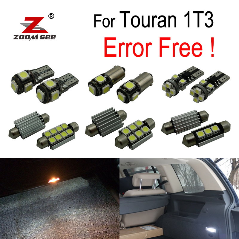 18x LED License plate lamp + Parking position + Interior reading Lights Kit for Volkswagen VW Touran 1T3 (2011-2015) все цены