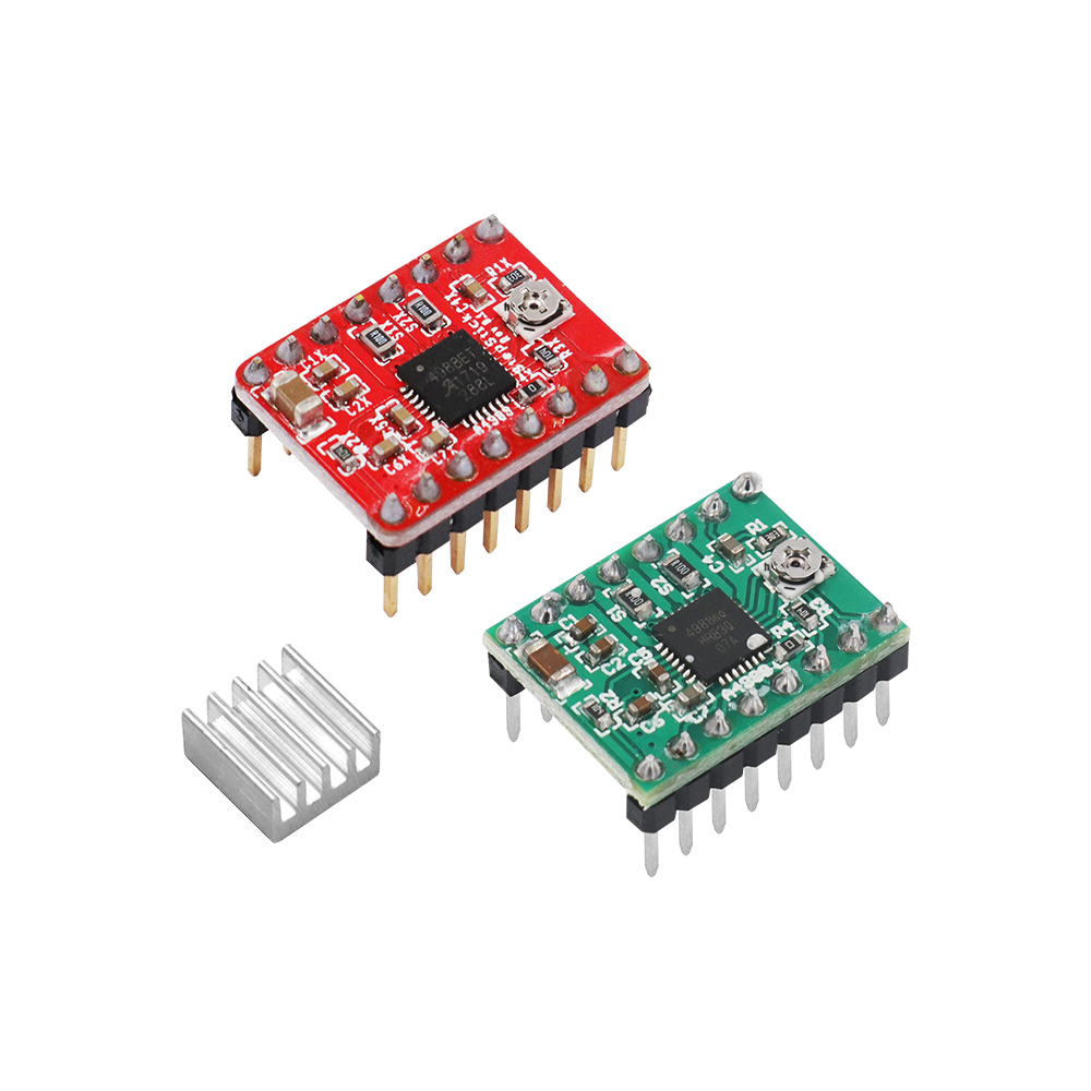 A4988 Breakout Shield Board Stepper Motor Driver Control Module Controller with Heatsink Reprap 3D Printer Parts for Arduino