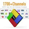 T95K Europa IPTV Caixa de Tv Android 6.0 WI-FI Forte & 1700 + Canais de IPTV árabe Francês Turco Céu Esporte 2 GB 16G 4 K Tv receptor