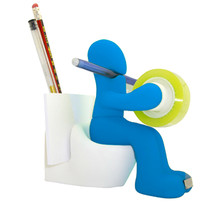 Seat Toilet Multifunctional Tape Holder Pen Note Paper Clip Storage