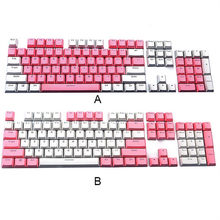 Translucent Double Shot PBT 104 KeyCaps Backlit for Cherry MX Keyboard Switch keycap mechanical keyboard red gray Ergonomic(China)