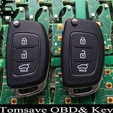 Tamaño Original Del Envío Libre Para Hyundai IX25 i20 3 Botones Coche inteligente de Alarma Dominante Alejada 433 Mhz Con la Viruta ID70 Para Hyundai ix25 i20
