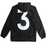 BLACK WHITE Fashion Windbreaker No 3 Spring Summer Jacket Men Women Brand Fashion Streetwear Hooded Jackets