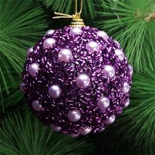Nowy 6 kolory boże narodzenie Ball 8cm 1PC pianki choinkowe bombki Dekoracje świąteczne kulki 30 tanie tanio 1 szt Decoration Ball Christmas Decorations for Home Christmas Tree Decorations