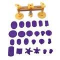 Car Body Dent Hail Repair Removal Bridge Puller With 24 Pcs Purple Glue Tabs Kit Auto Maintence Tool