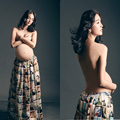 Apoyos de la fotografía de maternidad las mujeres embarazadas del verano dress ropa de embarazo sesión foto props vestido largo vestidos tamaño libre