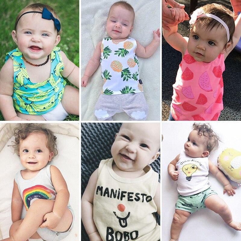 Lato Baby Tank Top Bunny Koszulki bez rękawów Lato Newborn Kids T - Odzież dla niemowląt - Zdjęcie 4