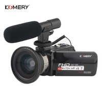 Cámara de vídeo KOMERY 1080 P Full HD cámara de vídeo Digital portátil 16X Zoom Digital 3,0 pulgadas pantalla táctil LCD videocámara con Wifi