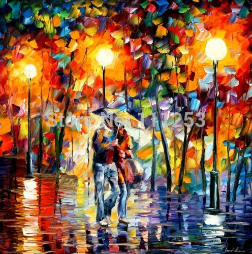 2016 Home Decor Rushed Top Quality Wall Art font b Knife b font Oil Painting Romantic