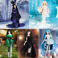 1/6 BJD SD Girl, Constellation Series Doll, 14 Joints Articulated Body, Fashion Anime Girl Character Doll with Costume