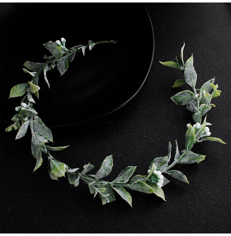 66fdb4714b191 Miallo Green Flowers Crown and Tiaras Simulation Wedding Headpieces ...