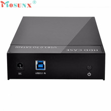 Reliable USB 3.0 External 2.5 3.5inch SATA Hard Drive Enclosure SSD HDD Disk Case US Standard