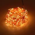 Quanlity elevado 12 V 30 M 98.4ft 300 100leds Fio de Cobre LED String Luzes Estrelado luz WarmWhite Branco Amarelo + UE EUA REINO UNIDO Poder adaptador