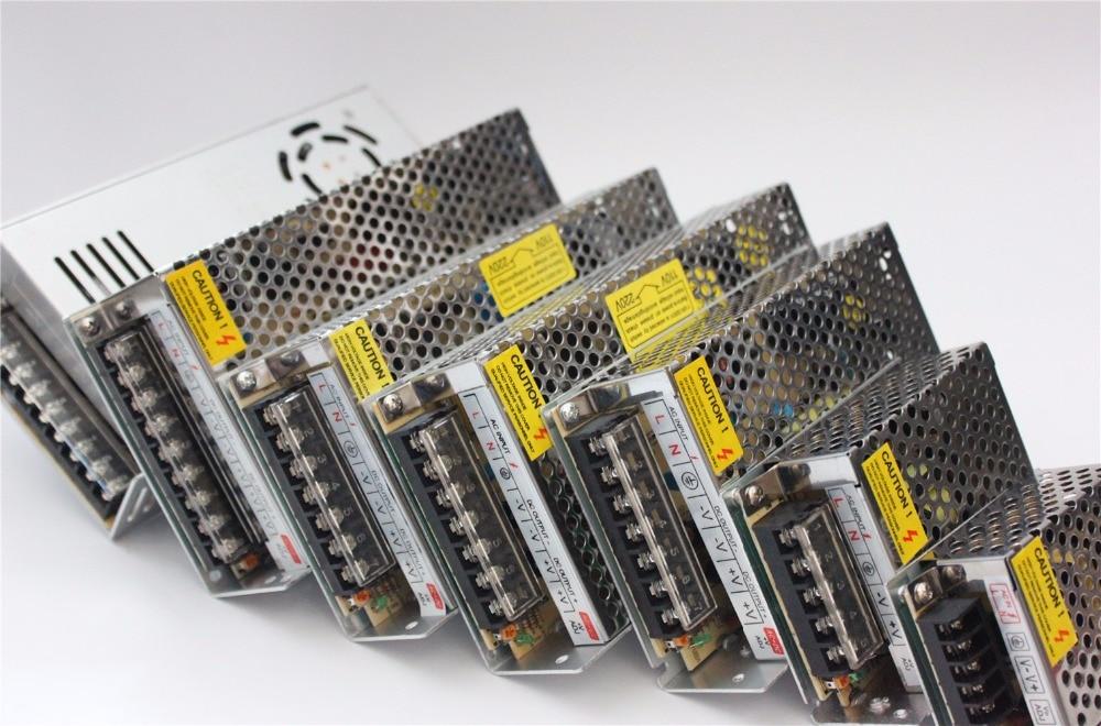 Interrupteur d'alimentation Led adaptateur AC100-240V à DC 24 V 1A 2A 3A 5A 8.5A 10A 15A 20A Pilote Transformateur pour 5630 5050 LED Bande