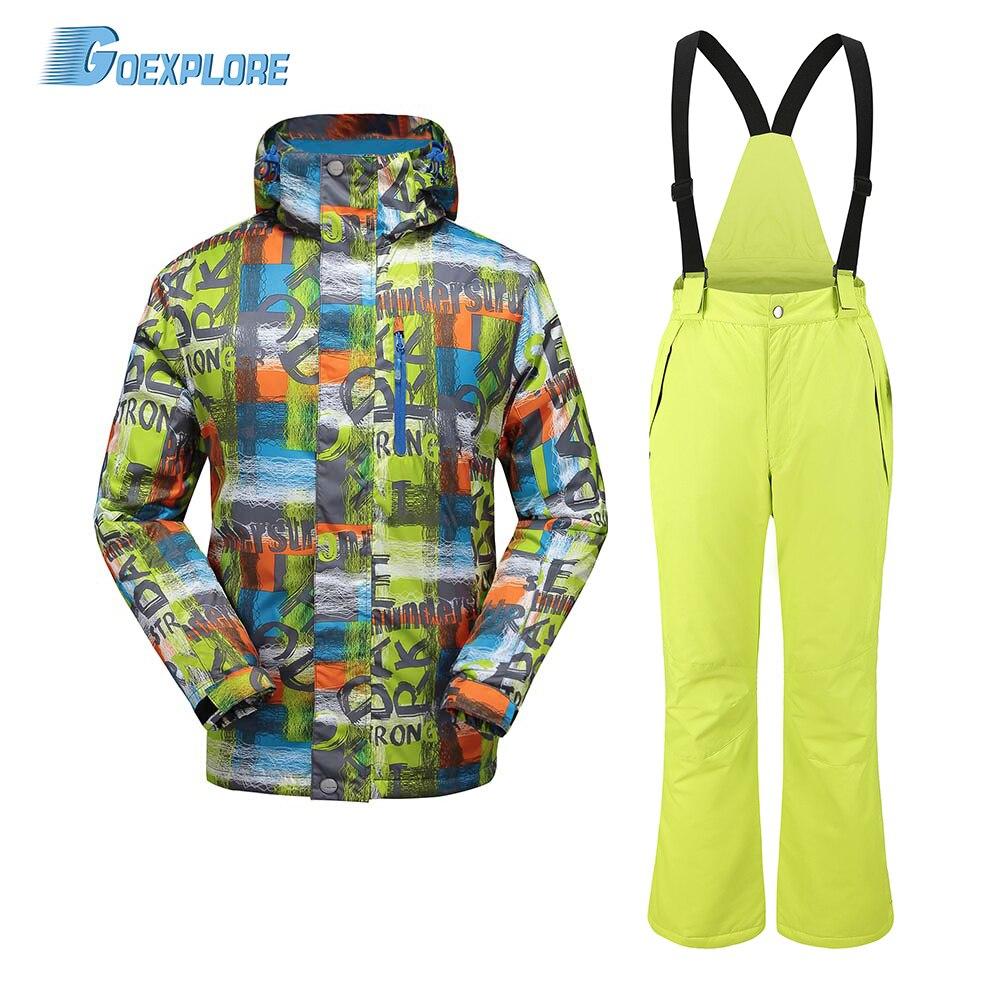 Goexplore Ski Suit Men Outdoor Waterproof Skiing Mountain Sport Snowboard Suit Snow Set Winter Suit Men Pants And Jacket Male