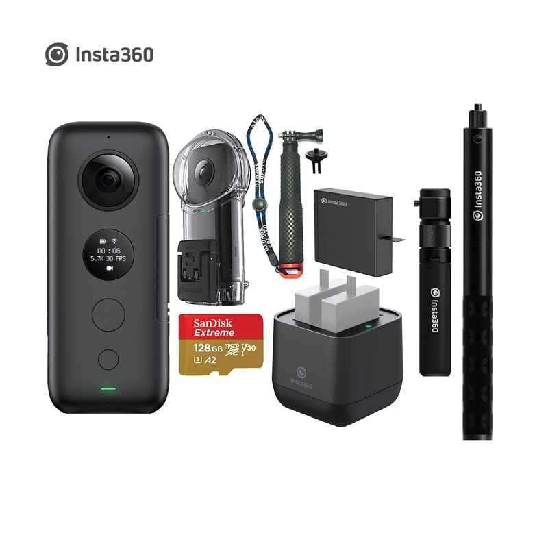 Insta360 ONE X Action Camera 5 7K Video 18MP Photo VR Waterproof Insta 360 ONEX Mini