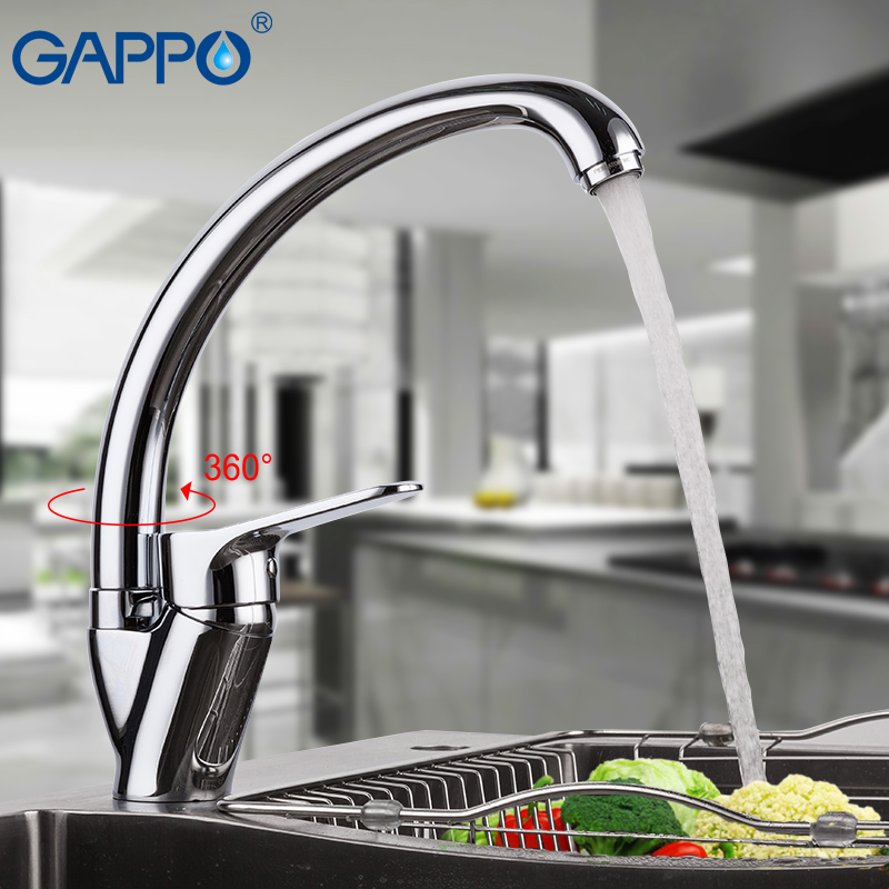 GAPPO Chrome Kitchen Faucet Kitchen Sink Mixer Tap Brass Faucet Kitchen Water Taps Torneira De Cozinha
