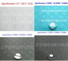 18650 리튬 이온 배터리 양극 절연 가스켓 절연체 링 18650 시리즈 리튬 이온 배터리 양극 중공 포인트 절연체 가스켓