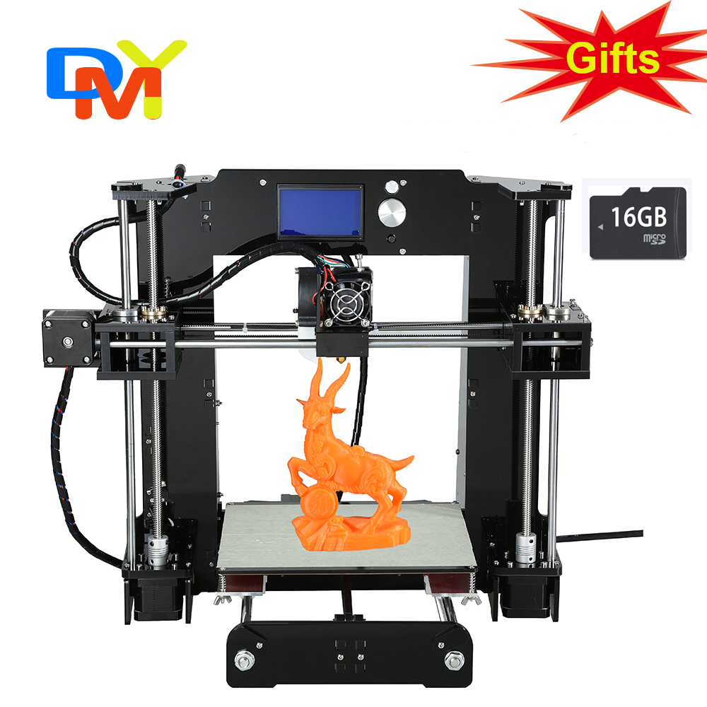 2016 High Quality Anet A6 3D Printer Easy Assemble Reprap prusa i3 3D printer Kit DIY With Free Filament