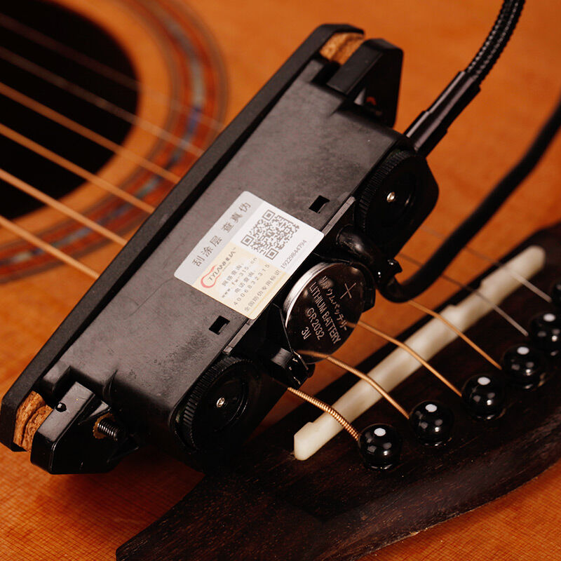 Preamp System T902 pick-up avec piézo éviter l'ouverture pour 39-42 pouces fil amplificateur haut-parleur acoustique basse guitare pièces accessoires