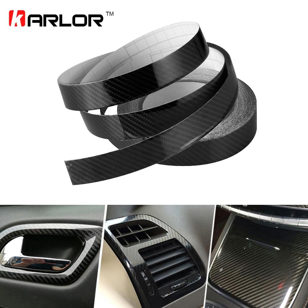2D 3D 4D Glossy Carbon Fiber Wrap Film Car Decal Sticker Door Sill Anti Scratch