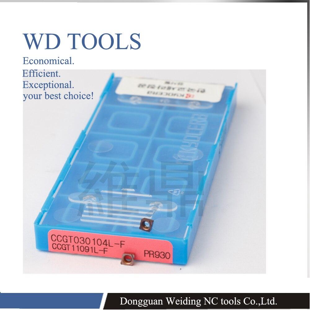 Top quality insert WD TOOLS CCGT030102 CCGT030104  CCGT040102  CCGT040104  PR930 Wearproof Carbide Insert Lathe Mill CNC tools
