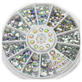2016 Mixed Size 1.5mm/3mm/4mm/5mm 3d AB Nail Art Decorations Acrylic Diamond Shapes Rhinestones To Nails Art Accessories