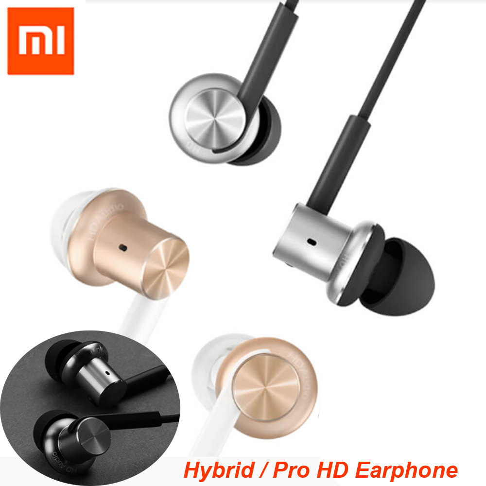 100%Xiaomi Hybrid / Pro HD Earphone In-Ear HiFi Earphones Mi Piston 4 With Mic Circle Iron Mixed For Phone and MP4 freeshipping original xiaomi pro hd in ear hybrid earphones