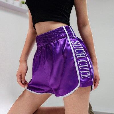 Print Casual Loose Harajuku Women   Shorts   Elastic High Waisted   Short     Shorts   2018 Summer Beach Hip Hop Lady   Short   Pants