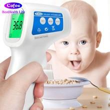 Cofoe LCD לייזר דיגיטלי אינפרא אדום מדחום Forhead גוף ואובייקט טמפרטורה ללא מגע האוזן / ראש נייד עבור התינוק למבוגרים בלבד