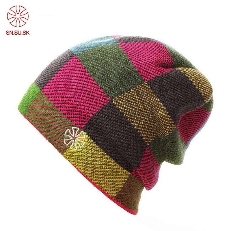 2019 Winter Hats Men Wire Wap Skiing Hat Warm Winter Knitted Beanie Hats Men/Women Caps Fleece Hat Gorros De Lana