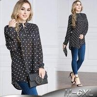 Plus Size 6XL 2018 Arabic Turkey Islam Women Muslim Long Sleeve Top Shirt Dress Abaya Musulman Saudi Arabe Islamic Tops Clothing