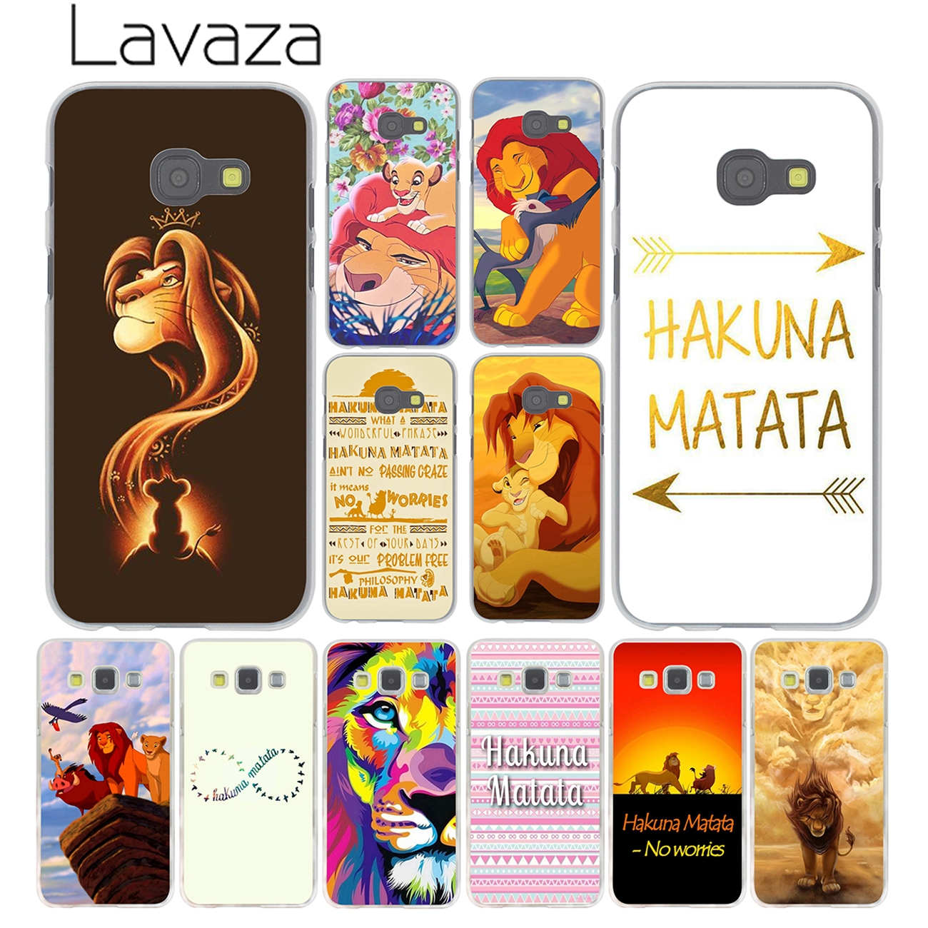 Lavaza The <font><b>Hakuna</b></font> <font><b>Matata</b></font> <font><b>Lion</b></font> <font><b>King</b></font> Phone Case for Samsung Galaxy Note 10 9 8 A9 A8 A7 A6 Plus 2018 A5 A3 2015 2016 2017 A2 Cover image