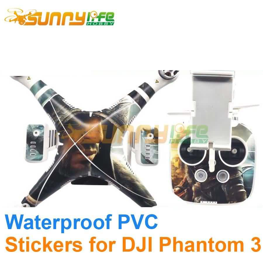 DJI Phantom 3 Accessory Stickers Graphic Wrap Skin Decals/ Stickers/ Cover for RC Quadcopter Waterproof PVC