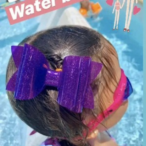 5 inch Adorable Pool Bows Jelly Bows Waterproof Bows Summer Bows Waterproof You Choose Color Matte Textured Sparklely(China)