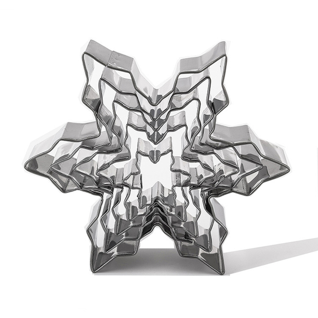 Stainless Steel Snowflake Shaped Cookie Molds Set
