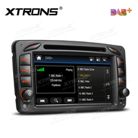 7 DAB 2 Din Radio Car DVD Player GPS For Mercedes Benz A W168 C Class