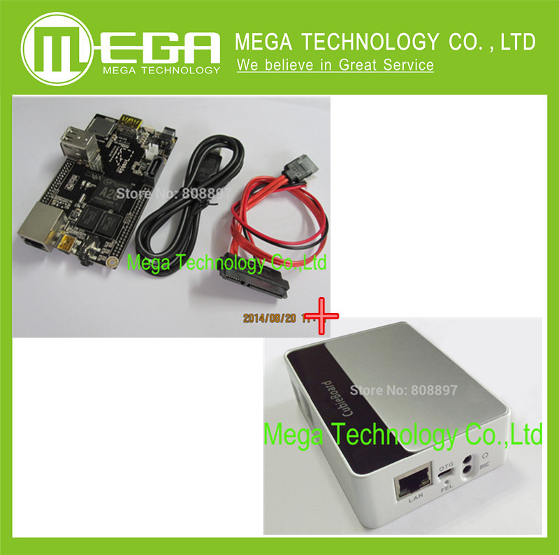 PC Cubieboard A20 Dual-core Development Board With Power Cable SATA Wire USB To TTL Line With Case