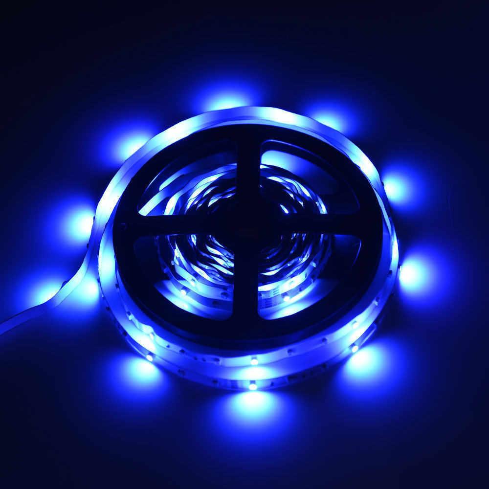 LED ストリップライト RGB テープダイオードネオンリボン 5 メートル 3528 SMD RGB 300 led ストリップライト文字列テープ + 44 キー赤外線リモコンアダプタ # tx45
