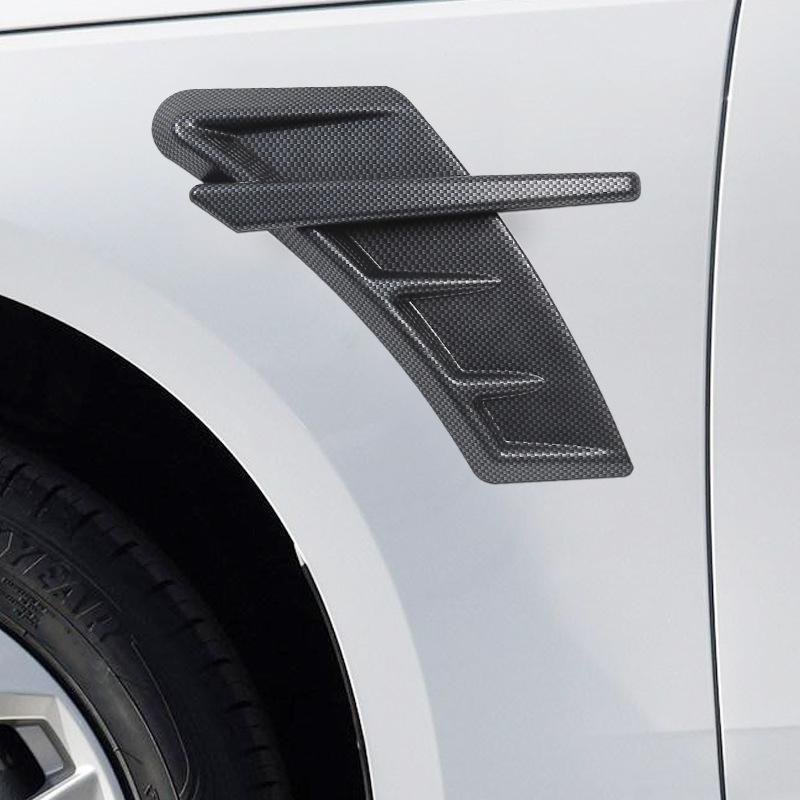 Automotive Carbon Fiber Fender Side Ventilation Decorative Sticker For Audi Rs A3 A4L A6L A5 Q3 Q5L Q7 Car Styling Accessories