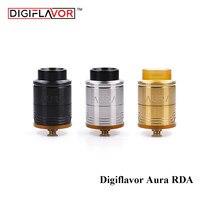 Original Digiflavor Aura Tanque RDA com Braçadeira Passo Build Deck com caixa BF e regular conector Atomizador Vape para Ecigarette mod