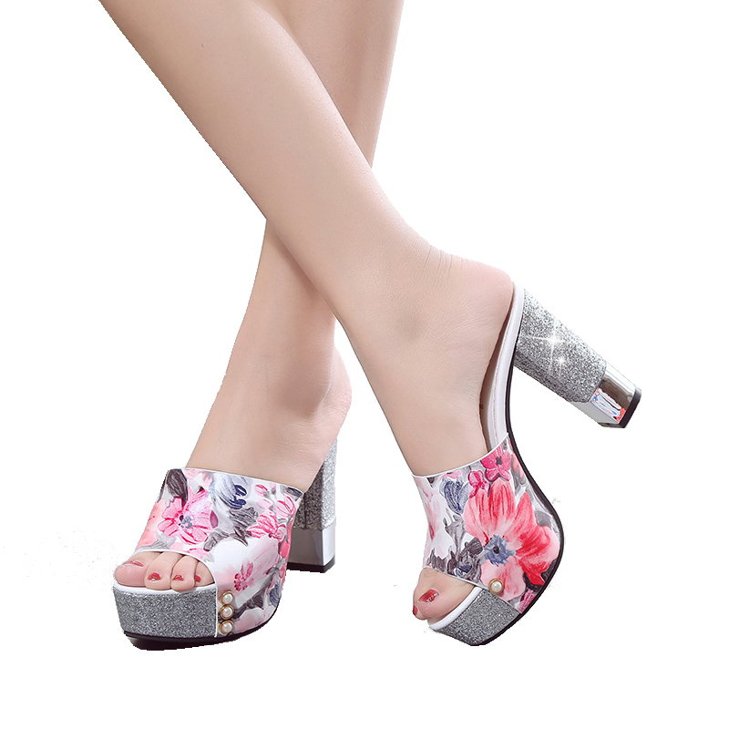sale with mastercard cheap sale new arrival Sexy Super Heel Slippers Flower clearance how much DUk2sZ