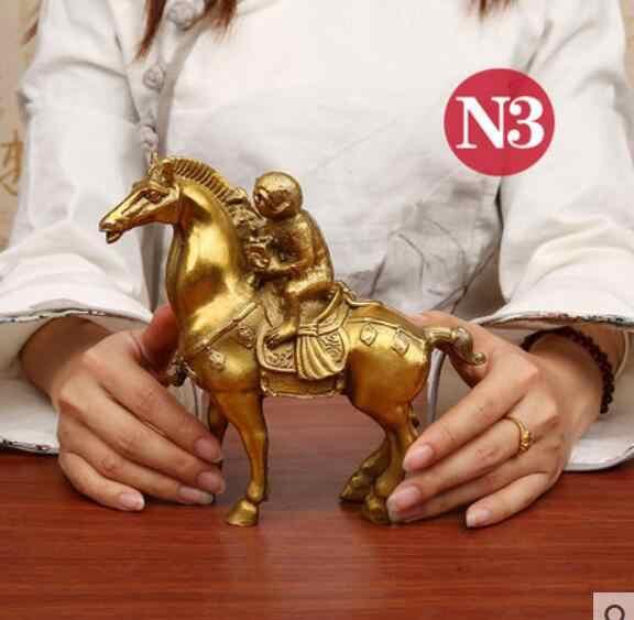 טהור נחושת חותמות את קוף מסמל את מזל פנג שואי סוס מלאכות קישוט