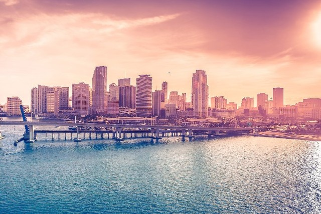 diy frame usa warm colors miami cities scenery poster home